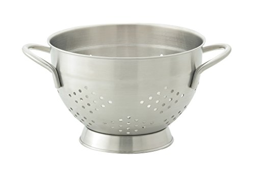 HIC Harold Import Co. 48010 HIC EssentialsStainless Steel Pierced Colander, 2 Quart,