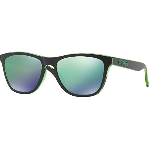 Oakley Men's Frogskins (a) Non-Polarized Iridium Rectangular Sunglasses, Eclipse Green, 54 - Green Sunglasses Oakley Frogskin