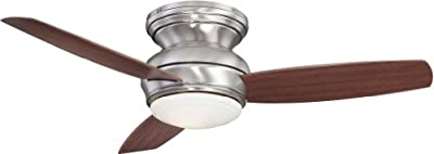 Minka-Aire F593-PARENT, Tradition Concept Hugger Outdoor Ceiling Fan w/ Light & Ctrl