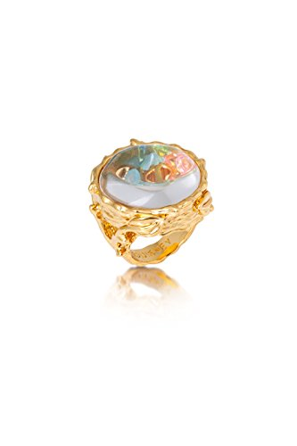 (Disney Couture Tinker Bell Pixie Hollow Lost Things Glass Case Ring (6))