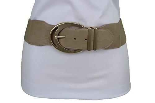 TFJ Women Fashion Belt Gold Metal Chain Hip Waist Side Pearl Beads Strands S M L