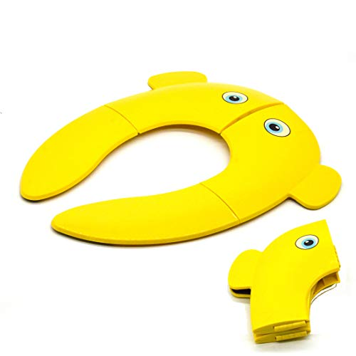 Yellow Elephant Travel Folding Portable Reusable Toilet Potty Training Seat Covers