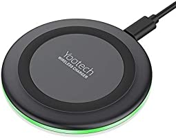 Yootech Wireless Charger Qi-Certified 10W Fast Wireless Charging Pad, 7.5W Compatible with iPhone 11/11 Pro/11 Pro...