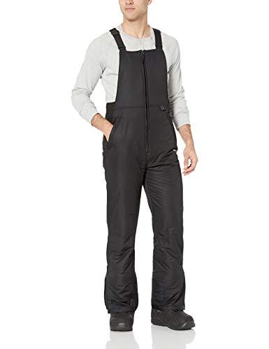 Arctix Men's Essential Insulated Bib Overalls, Black, Medium (32-34W 32L)