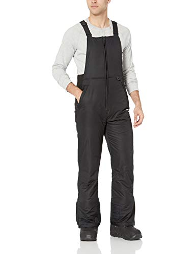 Arctix Men's Essential Insulated Bib Overalls, Black, X-Large (40-42W 32L) (Mens Skiing Bibs)