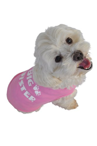 Cheap Ruff Ruff and Meow Doggie Tank Top, Big Sister, Pink, Extra-Small