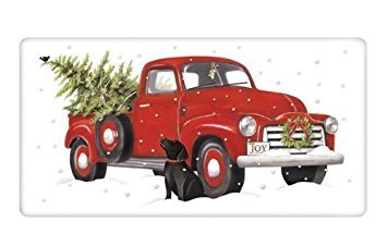Mary Lake-Thompson - HOLIDAY TRUCK BAGGED TOWEL, Red