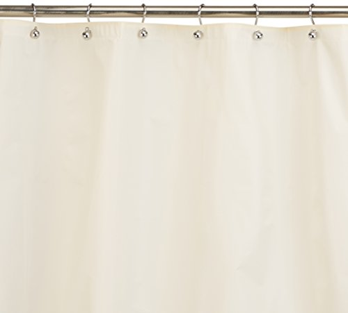 Carnation Home Fashions 10-Gauge PEVA 72 by 84-Inch Shower Curtain Liner, X-Long, Ivory