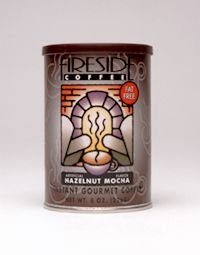 Fireside Coffee Cafe Mocha Instant Flavored Coffee 8 Ounce Canister - Hazelnut Mocha