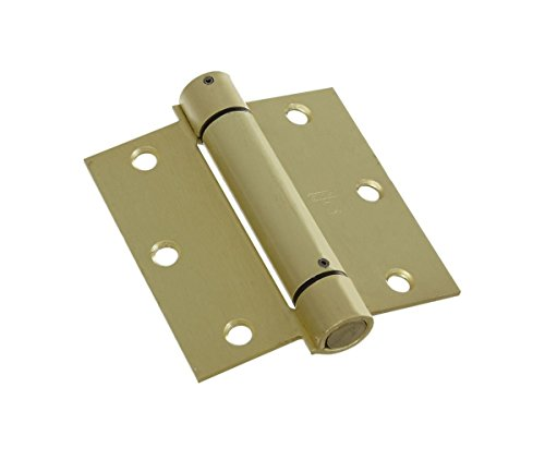 Stanley Hardware S530-743 CD2060R Spring Hinge in Satin Brass