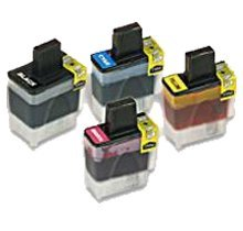 Lovetoner Compatible Replacement for Replacement for Brother LC41 Ink Cartridge Set Black Cyan Yellow Magenta