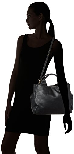 Clarks Talara Star, Borsa con Maniglia Donna, Nero (Black Leather), 17 x 25 x 41 cm (L x H x D)