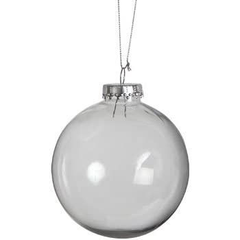Paintable Clear Plastic Christmas Balls, 4