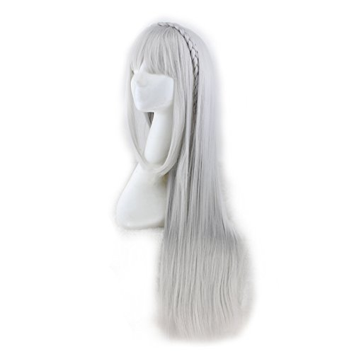 Amazon.com: QQXCAIW Life in a Different World Emiria Emilia Long Cosplay Wig: Beauty