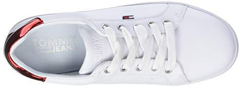 White da Bianco 100 Denim Scarpe Sneaker Donna Icon Ginnastica Hilfiger Basse qwF6CfTxx