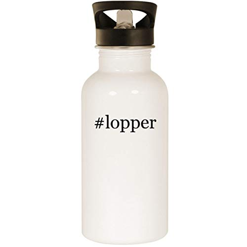(#lopper - Stainless Steel Hashtag 20oz Road Ready Water Bottle, White)