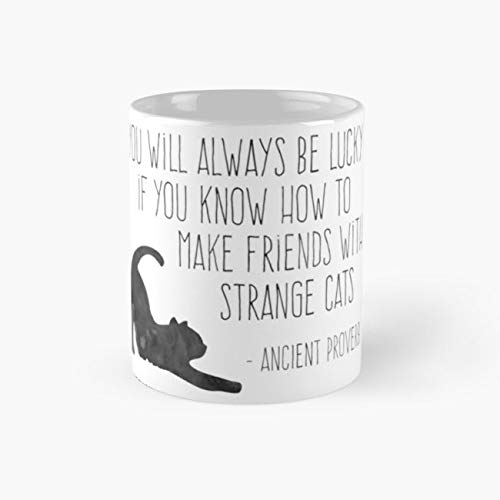 I Love Black Cats Halloween Happy Strange 11 Oz Coffee -