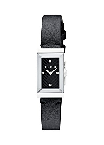 Gucci G-Frame Black Dial Ladies Leather Watch YA147504 - Gucci Women Watches
