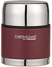 THERMOcafe by Thermos Vacuum Insulated Stainless Steel Food Jar, 500ml, Matte Red, TV500R6AUS