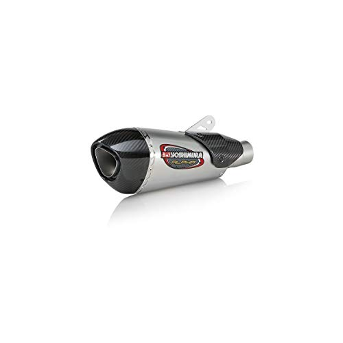 18 TRIUMPH ST-TRIPLE765RS: Yoshimura Alpha T Slip-On Exhaust (Street/Stainless Steel/Stainless Steel/Carbon Fiber/Works Finish) ()