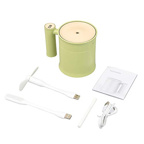 XXIAZHI,Mini humidificador de Aire con Ventilador LED de luz LED(Color:Aguacate Verde): Amazon.es: Hogar