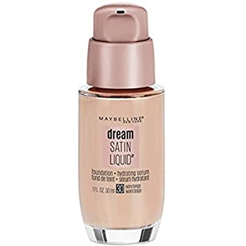 Maybelline Dream Satin Liquid Foundation, Ivory Beige 30 , 1 oz Pack of 3