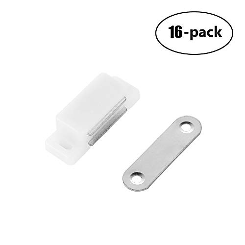 JQK Magnetic Door Catch, 45 mm Cabinet Magnet Closet Catches 16 Pack, 5.5 lbs HCC130-P16 by JQK