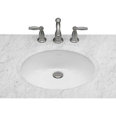 (Oval Undermount Ceramic Bathroom Sink with Overflow Sink Finish: White)