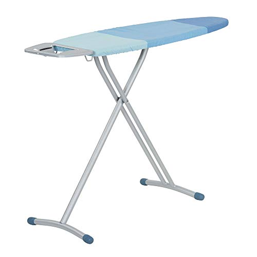Board Leg Ironing Tri - Household Essentials 814513-1 Ironing Board Steel Top | Tri Leg Blue | Foam pad and Extra Cover, 45