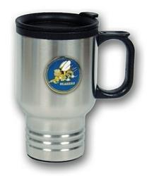 Seabees Travel Mug 14oz Stainless Steel