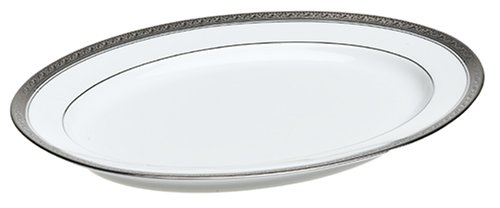 Crestwood Platinum (Noritake Crestwood Platinum 14-Inch Medium Oval Serving Platter)