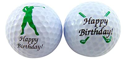 Westman Works Happy Birthday Golf Ball Set with Two Different Balls in a Display Pack