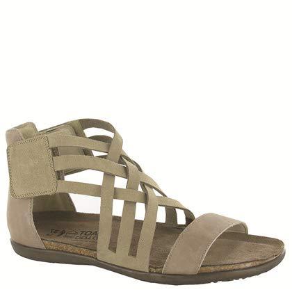 NAOT Footwear Women's Marita Sandal Sand Suede/Khaki Beige Lthr 7 M US