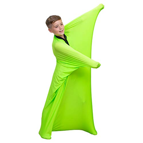 Special Supplies Sensory Sock (Green, Large 56''x28'') Full-Body Wrap to Relieve Stress, Hyposensitivity, Anxiety | Stretchy, Breathable Sack for Boys, Girls | Safe, Comfortable, Calming Relief by Special Supplies