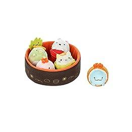 Sushi Bowl Plush | Sumikko Gurashi Set | Neko, Penguin, Tonkatsu, Tokage Lizard 3