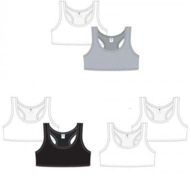 K&A Company Girl's 2-Pack Solid Training Bras - Sizes S-L Case Pack 48 by K&A Company