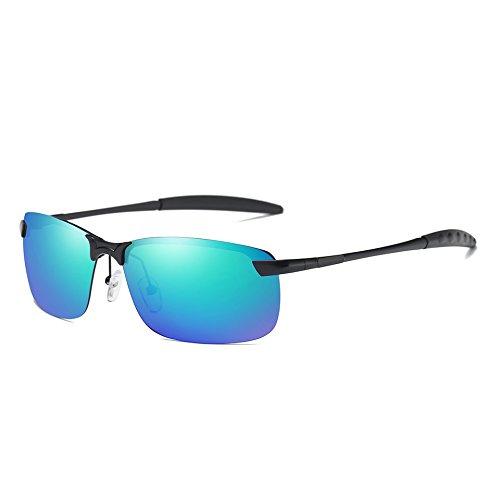 de Lunettes Blue Sunglasses Conduite Black Polarisée Sport Soleil Couleur Hommes TL du Lunettes Hommes Film Green de de OAn7dxSq