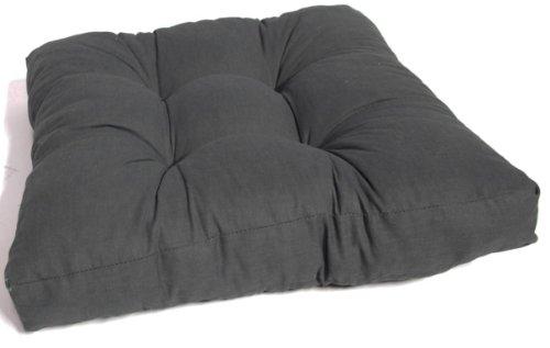 Kissen für Loungemöbel 60 x 60 cm in anthrazit Sitzkissen Rattan