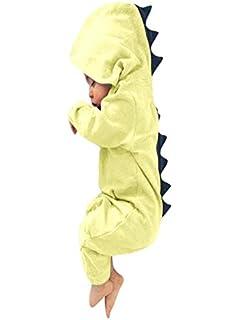 17bd6db2f9 UOMOGO® Neonato Bambino Neonato Dinosauro Ragazza Hooded Pigiama Tuta Abiti  3-24 Mesi
