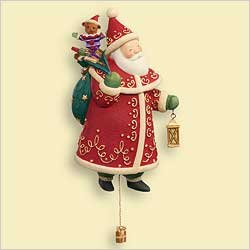 2006 Hallmark Keepsake Christmas Ornament SANTA #1 in series Yuletide Treaures QX3326 ()