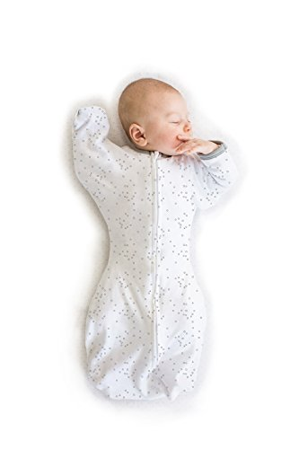 Large Product Image of Swaddle Sack with Arms Up Mitten Cuffs, Confetti, Sterling, Medium, 3-6 Months