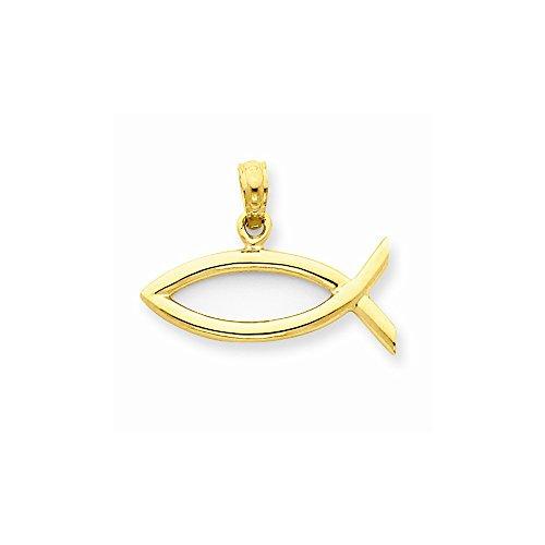 14k Yellow Gold Ichthus Fish Pendant ()