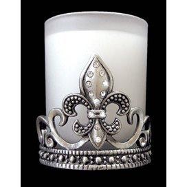 Fleur De Lis Votive Candle Holder With Crystals Amazoncouk