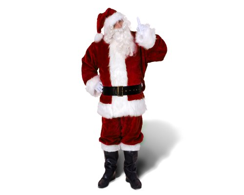 Sunnywood Men's 's Ultra Deluxe Santa Claus Suit, Red/White, X-Large by Sunnywood