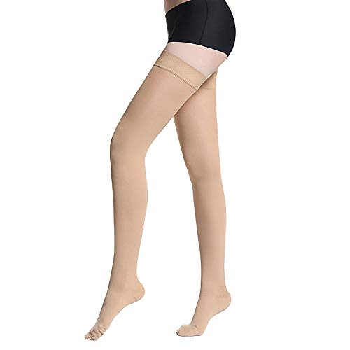 Aaister Medical Closed Toe Thigh High Compression Stockings, Graduated Support 20-30 mmHg Firm Hose for Women & Men, Treatment Swelling, Relief Varicose Leg Veins, Pregnancy, Flight
