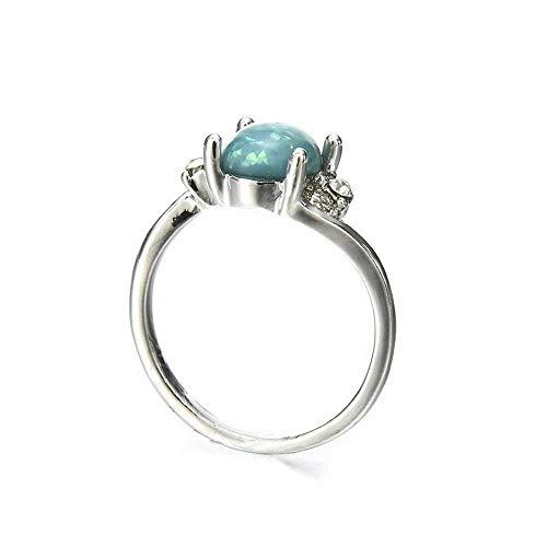- Monowi Retro Women White Fire Opal Fil Silver Mom Gift Wedding Engagement Ring Hot | Model RNG - 19932 | 8