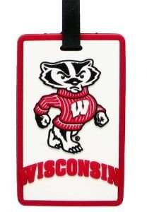 Wisconsin Badgers - NCAA Soft Luggage Bag Tag (Badger) by aminco