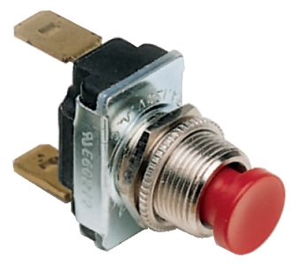 Cole Hersee 9187-02-BX Red Push Button Momentary Switch