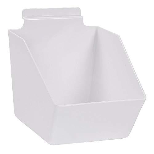 "Buy All Store 10 Slatwall Bins Dump Acrylic White 7 ½"" X 6 X 5 ½"" Plastic Retail Display -  buyallstore"