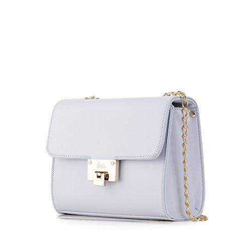 Barbie Bolso bandolera y baguette elegante de estilo chicas bolso casual con hebilla para mujer BBFB579 20x8.5x16CM Azul